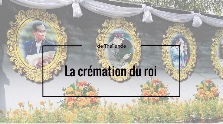 Crémation du roi de Thaïlande